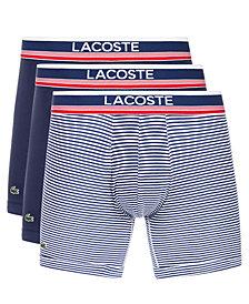 Lacoste Men's 3-Pk. Signature Trunks