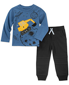 Kids Headquarters Little Boys 2-Pc. Graphic Shirt & Pants Set