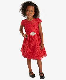 Rare Editions Little Girls Fit & Flare Lace Party Dress