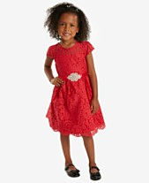 Rare Editions Little Girls Fit   Flare Lace Party Dress ff9e33393189