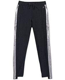 Calvin Klein Big Girls Foil-Stripe Jogger Pants
