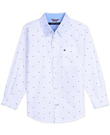 Tommy Hilfiger Big Boys Logo Print Shirt