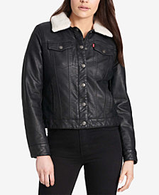 Levi's® Faux-Leather Trucker Jacket