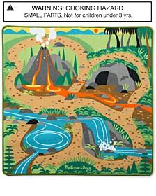 Melissa & Doug Prehistoric Playground Dinosaur Rug - Dinosaur Toy Playmat