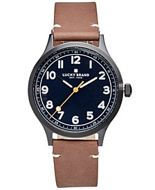 Lucky Brand Men's Jefferson Tan Leather Strap Watch 38mm