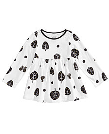 First Impressions Baby Girls Tree-Print Cotton Peplum Tunic, Created for Macy's