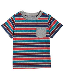 First Impressions Toddler Boys Multi-Stripe Pocket T-Shirt, Created for Macy's