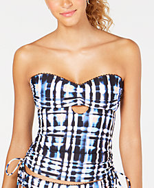 Lucky Brand Solstice Canyon Printed Bandeau Tankini Top