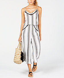 Lucky Brand Venice Vibes Crop Wide-Leg Jumpsuit Cover-Up
