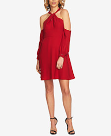 CeCe Cold-Shoulder Fit & Flare Dress