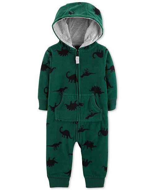 83b415d3f Carter s Baby Boys Hooded Dinosaur-Print Fleece Coverall - All Baby ...