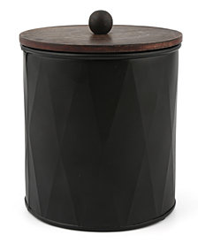 Thirstystone Medium Black Metal Canister with Wood Top