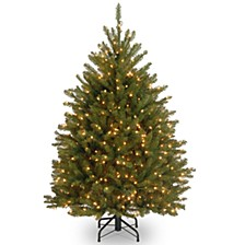 National Tree 4 .5' Dunhill Fir Hinged Tree with 450 Clear Lights