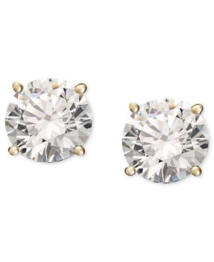 Diamond Stud Earrings (1/3 ct. t.w.) in 14k Gold or White Gold -  Macy's