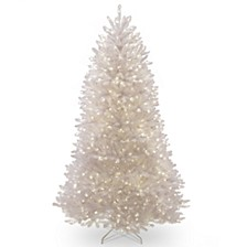 National Tree 9 ft. Dunhill White Fir Tree with Clear Lights
