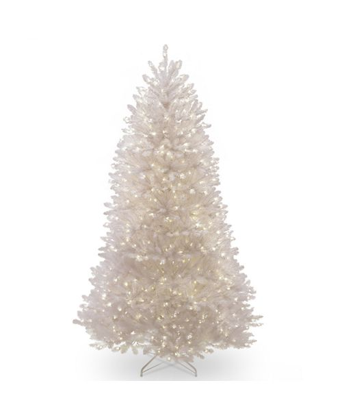 National Tree Company National Tree 9 ft. Dunhill White Fir Tree with Clear Lights