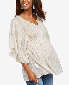 Jessica Simpson Maternity Flutter-Sleeve Top