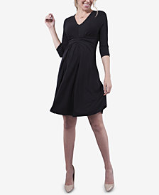 Seraphine Maternity Twist-Front Dress