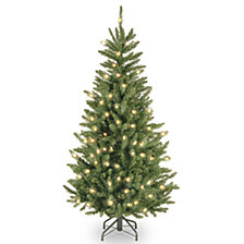 National Tree 4 .5' Natural Fraser Slim Fir Tree with 300 Clear Lights