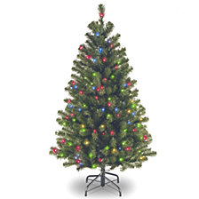 National Tree 4 .5' North Valley Spruce Tree with 200 Multicolor Lights