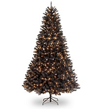 National Tree 9' North Valley Black Spruce Hinged Tree with 700 Clear Lights