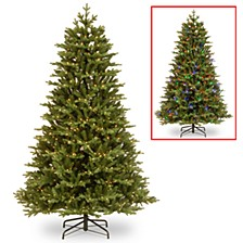 National Tree 7 .5' Feel Real Brookfield Fir Hinged Tree with 800 Dual Color LED Lights & PowerConnect™