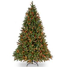 "National Tree 7 .5'""Feel Real"" Downswept Douglas Fir Hinged Tree with 750 Multi Lights"