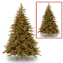 "National Tree 7 .5' ""Feel Real"" Frasier Grande Hinged Tree with 1000 Dual LED Lights"