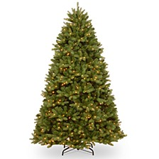 National Tree 6 .5' Feel Real  Newberry ™  Spruce Hinged Tree with 650 Clear Lights