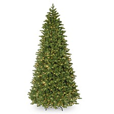 "14' ""Feel-Real"" Ridgewood Spruce Slim Hinged Tree with 1300 Clear Lights"