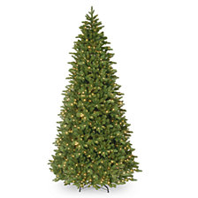 "National Tree Company 14' ""Feel-Real"" Ridgewood Spruce Slim Hinged Tree with 1300 Clear Lights"