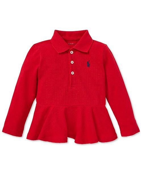 17c3e2b4 Polo Ralph Lauren Baby Girls Cotton Peplum Polo & Reviews - Shirts ...