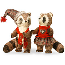 "National Tree 12"" Raccoon Pair"
