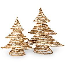 National Tree Rattan Christmas Tree Set