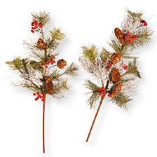 "National Tree 26"" Pine Cone Branch Spray Set"