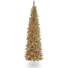 National Tree 6 ft. Champagne Tinsel Tree