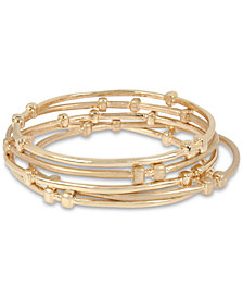 Robert Lee Morris Soho Gold-Tone 5-Pc. Set Bangle Bracelets