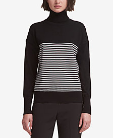 DKNY Striped Turtleneck Sweater, Created for Macy's