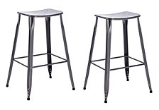 Saddle Backless Barstool