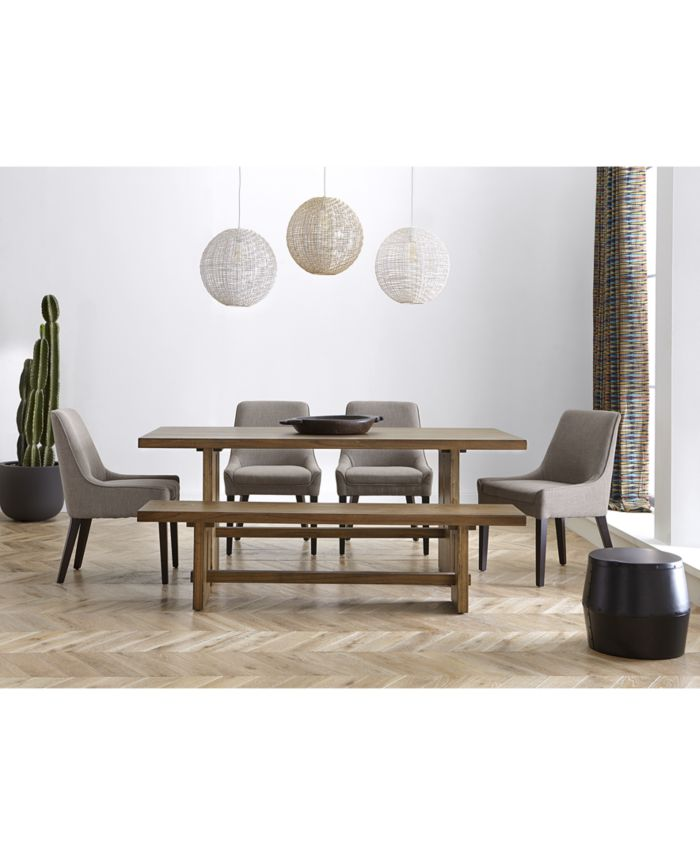 Furniture Everly Dining Furniture, 3-Pc. Set (Table & 2 Benches), Created for Macy's & Reviews - Furniture - Macy's