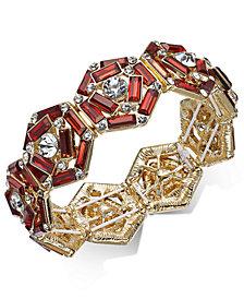 Thalia Sodi Gold-Tone Crystal & Stone Stretch Bracelet, Created for Macy's