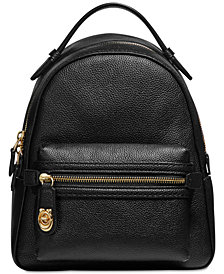 COACH Polished Pebble Small Campus Backpack