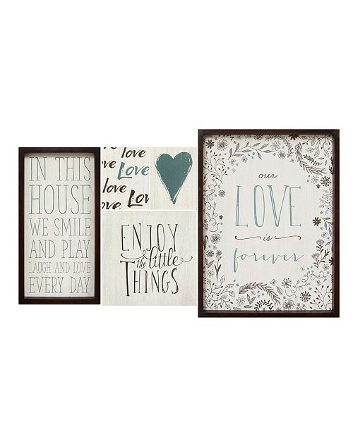 Stratton Home Decor Stratton Home Decor Love is Forever Wall Art (Set of 5)