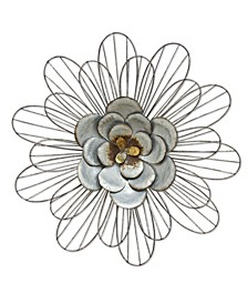 Stratton Home Decor Galvanized Daisy Wall Decor