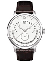 1bb14915845 Tissot Men s Swiss Tradition Perpetual Calendar Brown Leather Strap Watch  42mm T0636371603700
