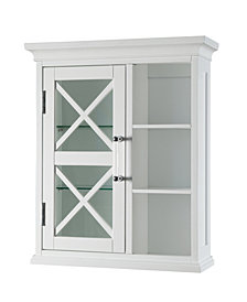 Blue Ridge Wall Cabinet with one Door and Cubbies