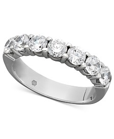 Certified Seven Diamond Station Band Ring in 14k White Gold (1-1/2 ct. t.w.)