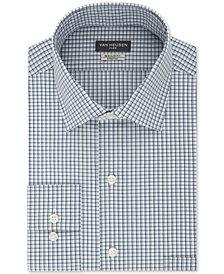 Van Heusen Men's Classic/Regular Fit Wrinkle Free Flex Collar Stretch Check Dress Shirt