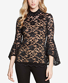 Karen Kane Lace Mock-Neck Top