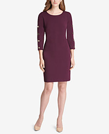 Tommy Hilfiger Snap-Sleeve Sheath Dress